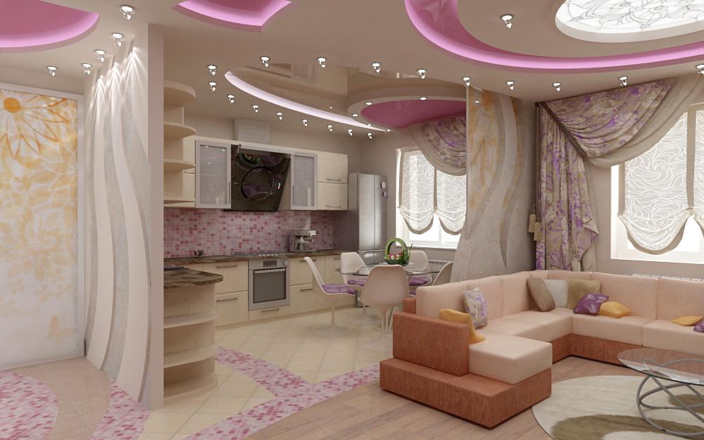 Дизайн кухни-студии 15, 16, 17 кв. м. (60 фото): кухня ...