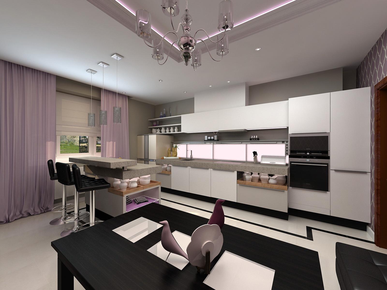 фото кухни студии