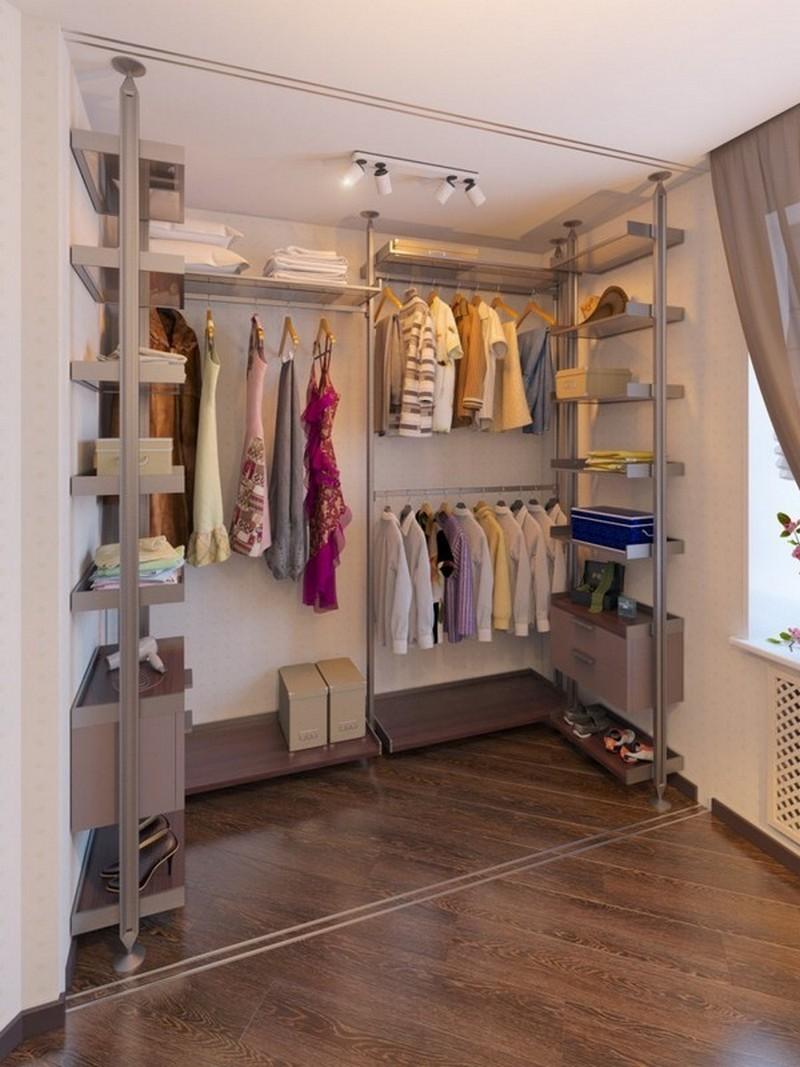 Как оформить маленькую гардеробную комнату фото