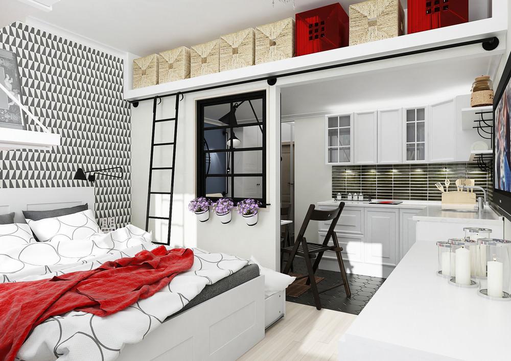 Фото дизайна квартиры студии 25 кв