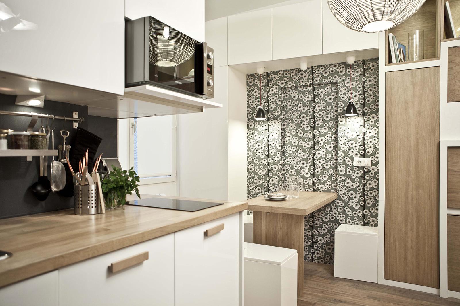 кухня-студия дизайн фото 18 кв.м