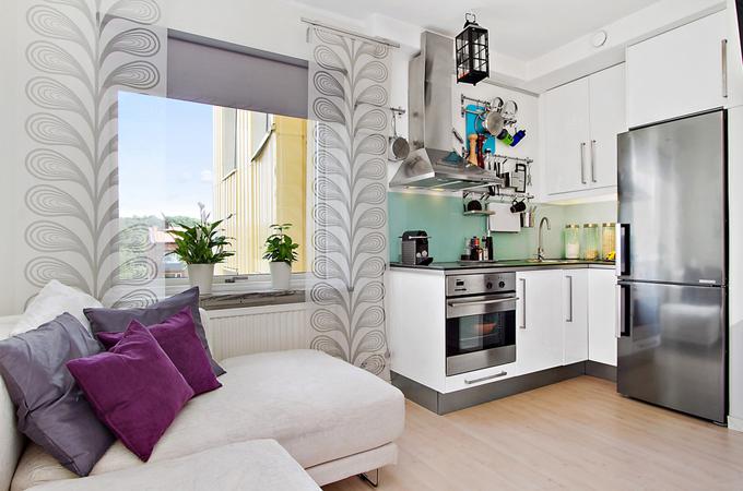 Дизайн однокомнатной квартире 21 кв.м