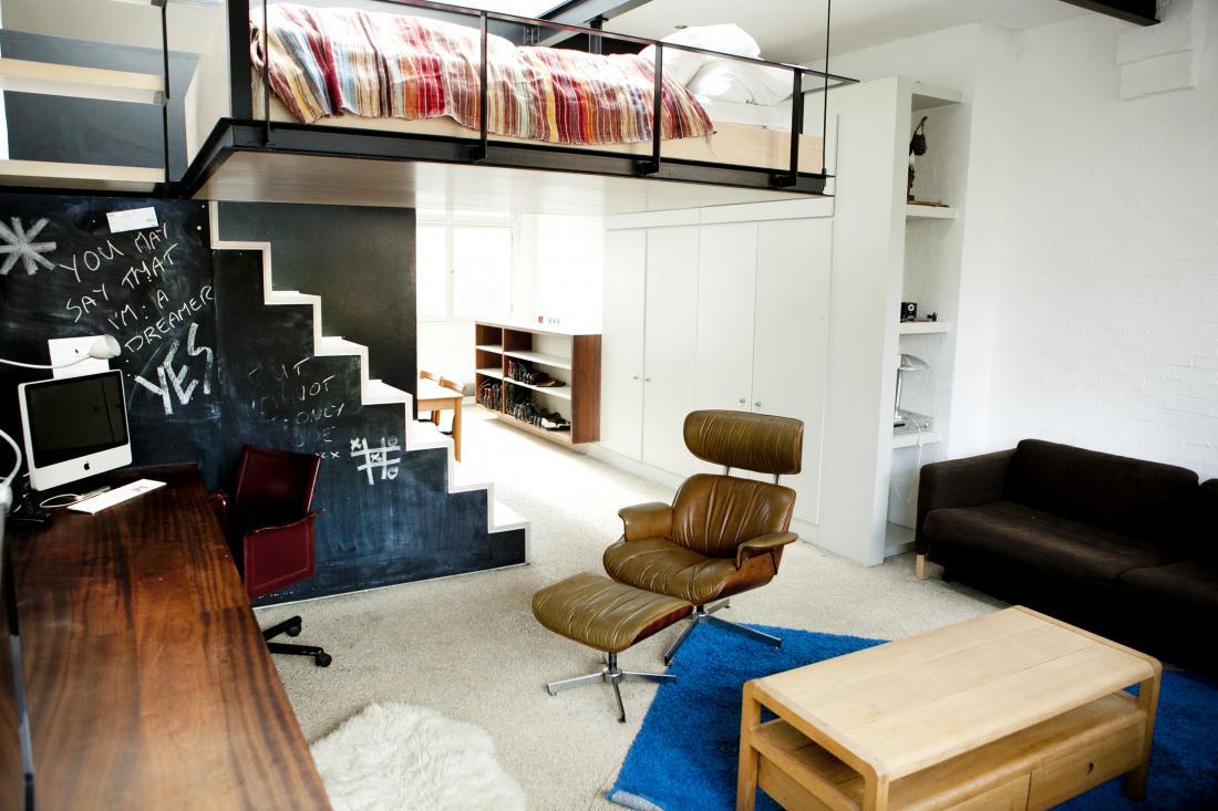 Антресоль в квартире дизайн 73