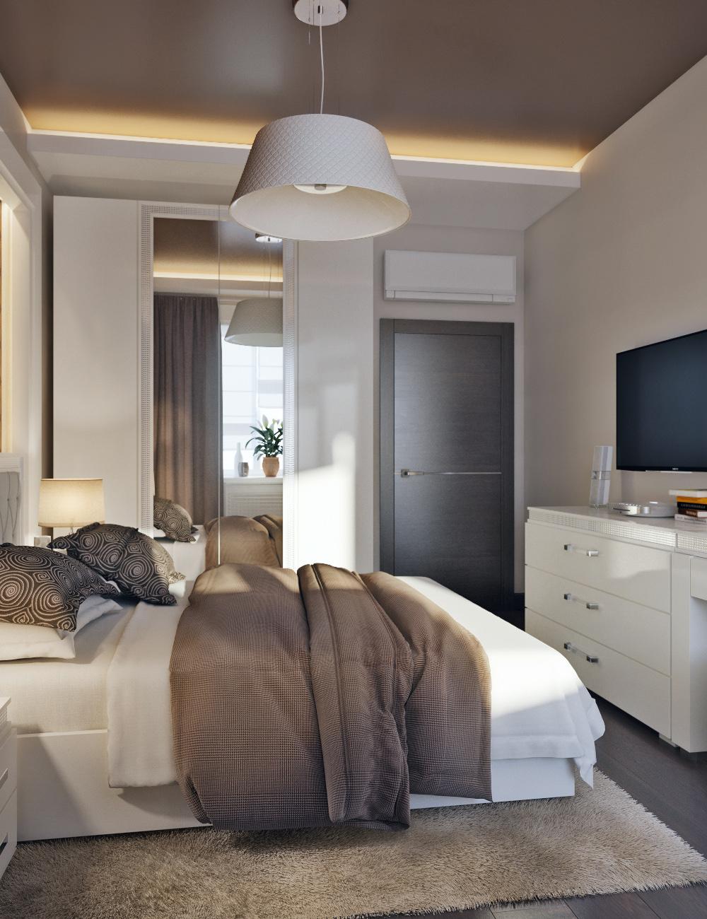Дизайн спальни 8 кв. м. (87 фото): интерьер маленькой узкой .