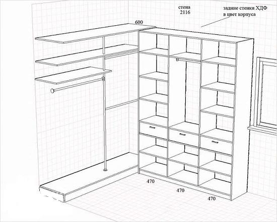 Гардеробные комнаты дизайн проект своими руками