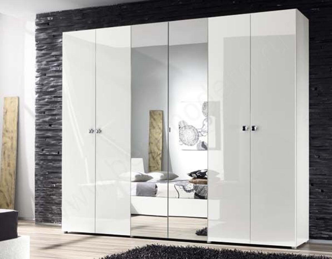 Глянцевый шкаф-купе (54 фото): белый и черный глянец с зерка.