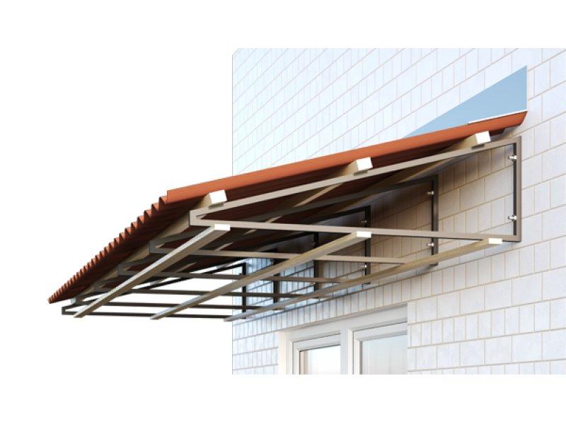 Как установить крышу на балкон последнего этажа.