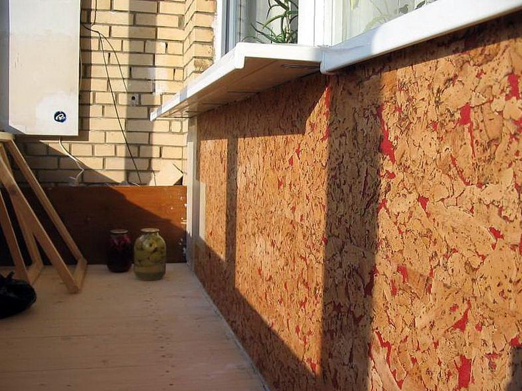 Как правильно делается отделка балкона пробкой строим дом св.