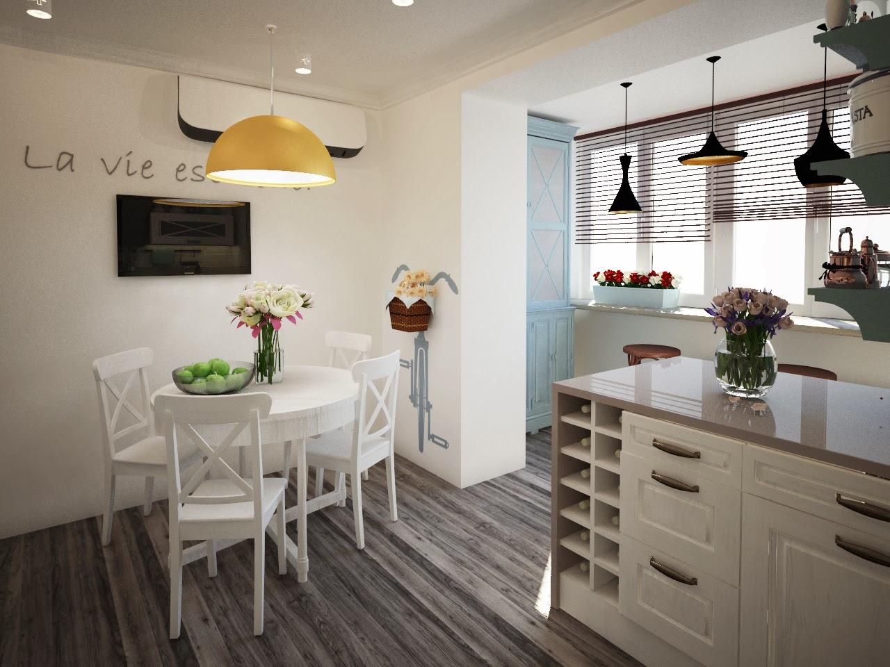 Примеры объединения кухонь с балконами или лоджиями pertaini.