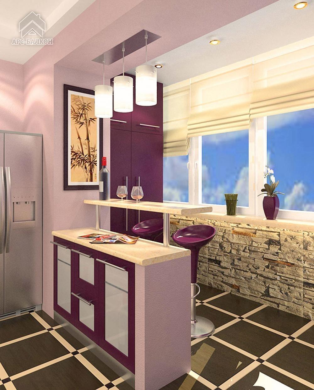 Кухня на лоджии (78 фото): кухня совмещенная с балконом, как.