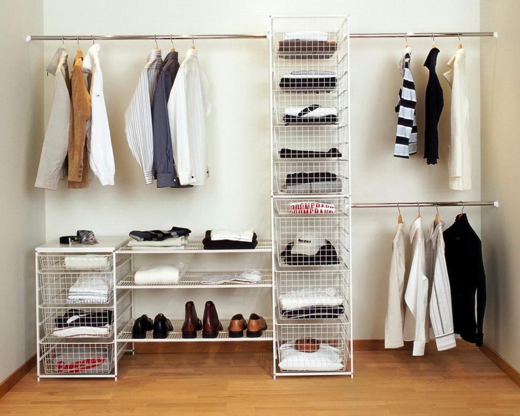 Мебель для гардеробной комнаты (55 фото): металлические шкаф.