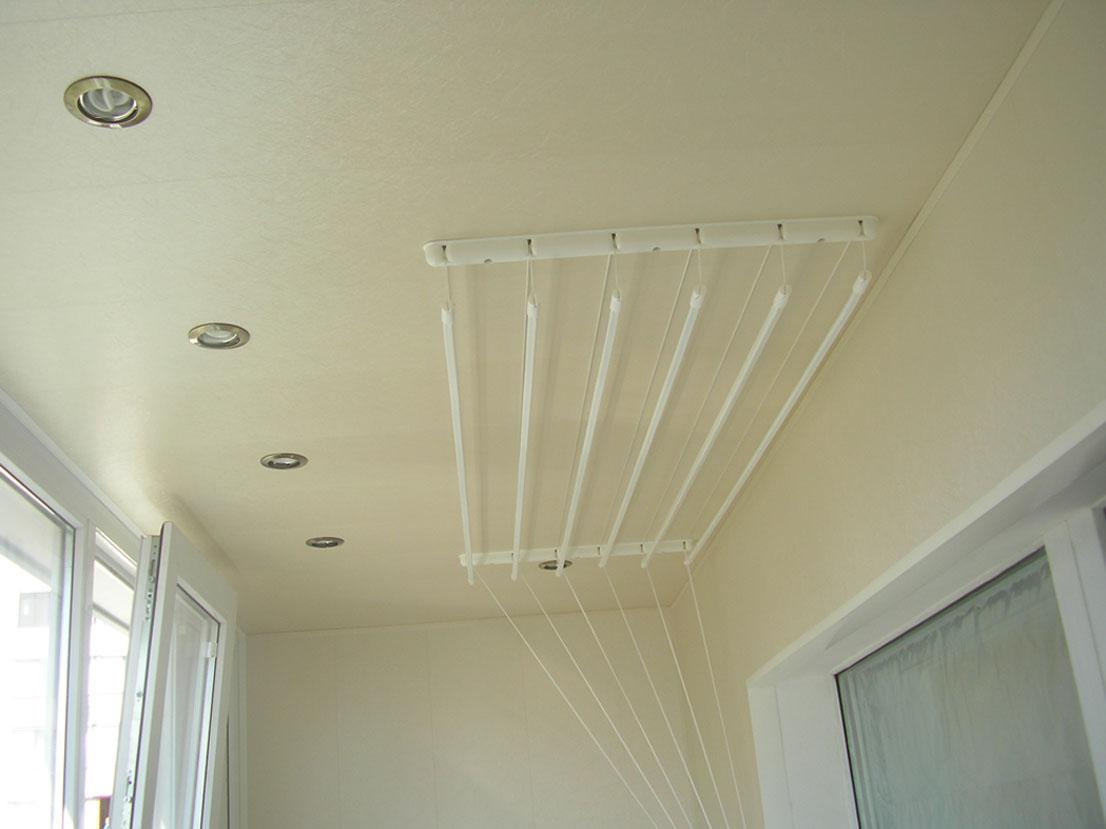 Настенная сушилка для белья на балкон (31 фото): балконная в.