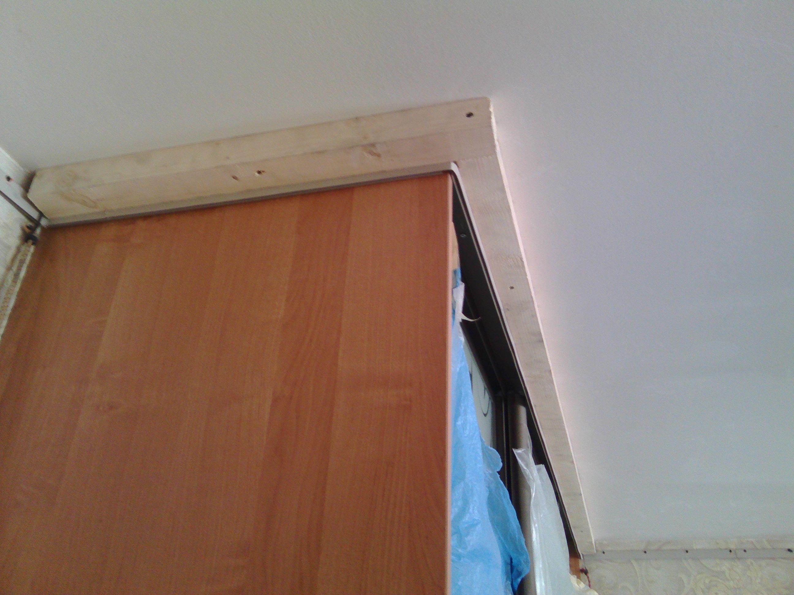 Как сделать натяжные потолки при встроенном шкафе 79