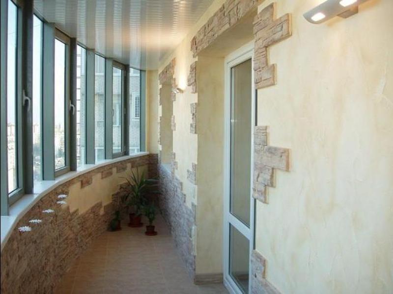 Отделка балкона декоративным камнем - пошаговая инструкция п.