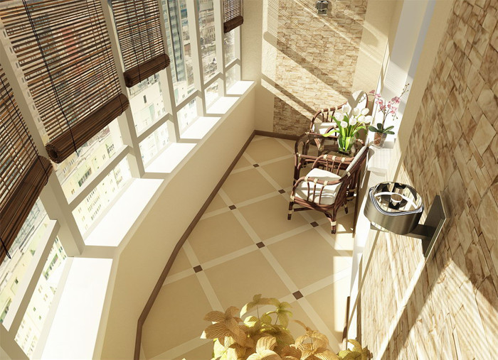Отделка камнем балкона (69 фото): отделка декоративным искус.