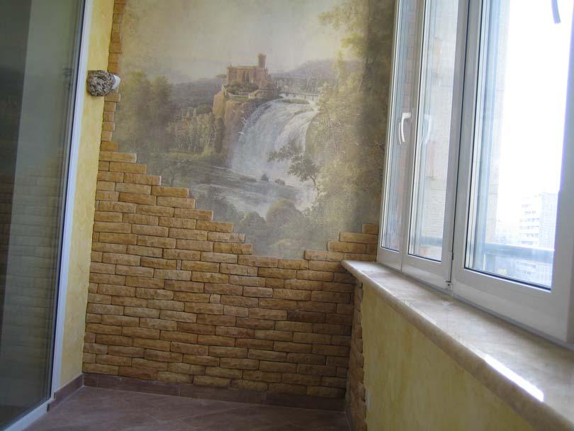 Отделка балкона декоративным камнем своими руками фото 44