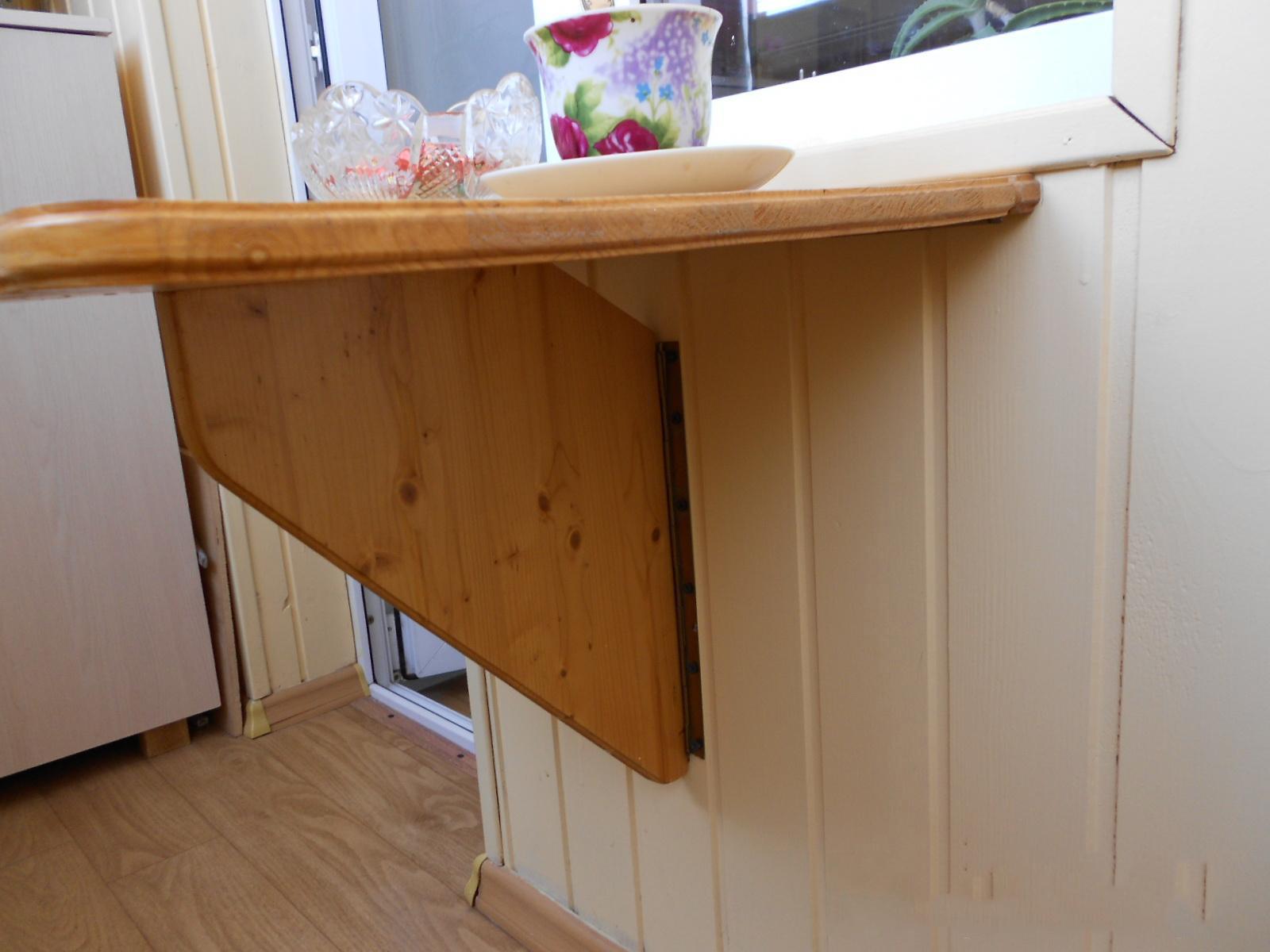 Откидные столики для кухни своими руками 15