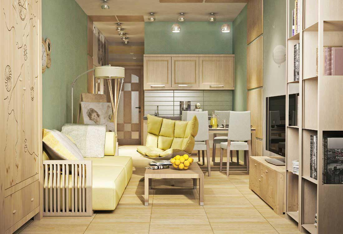 Маленькая квартира-студия дизайн интерьера