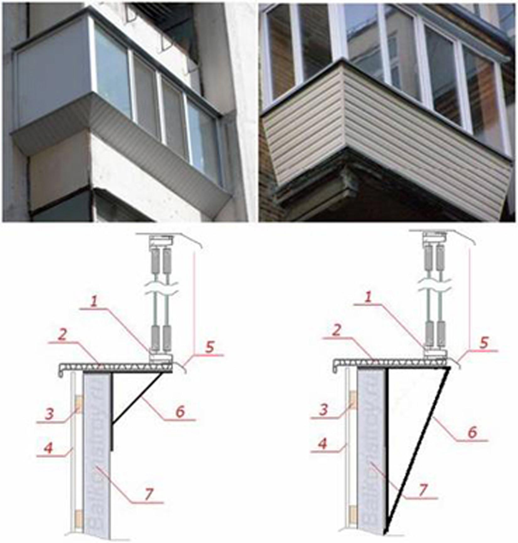 Усиление ограждения балконов.