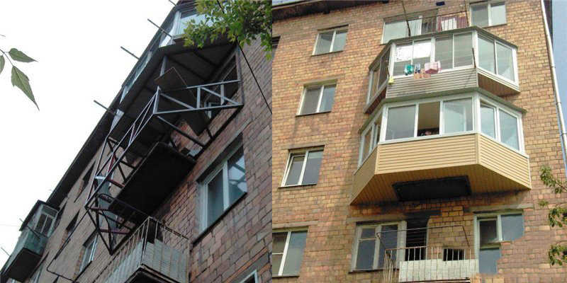 Расширение балкона (47 фото): разрешения на увеличение кварт.