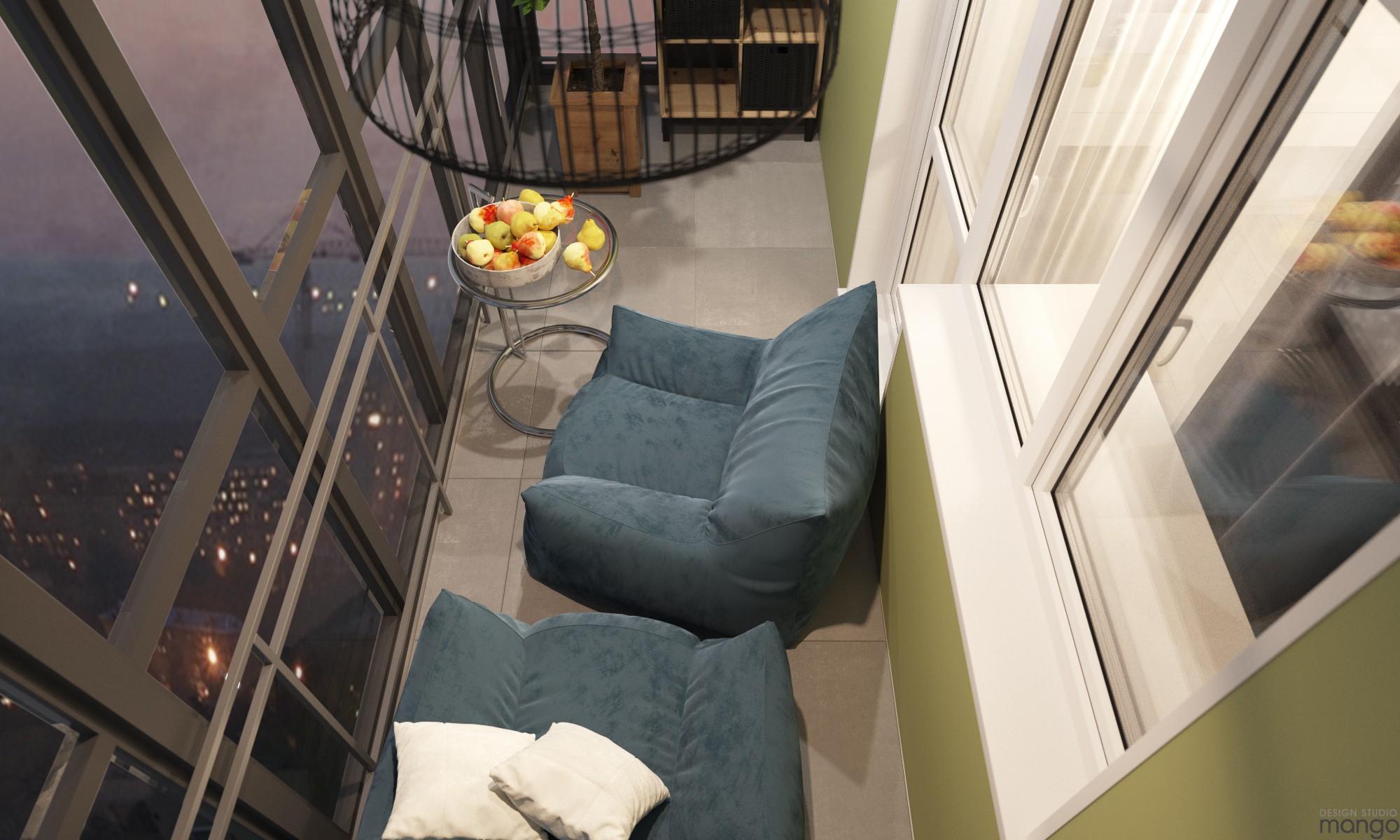 Проект: балконы, project 260 - design studio mango дизайн ин.
