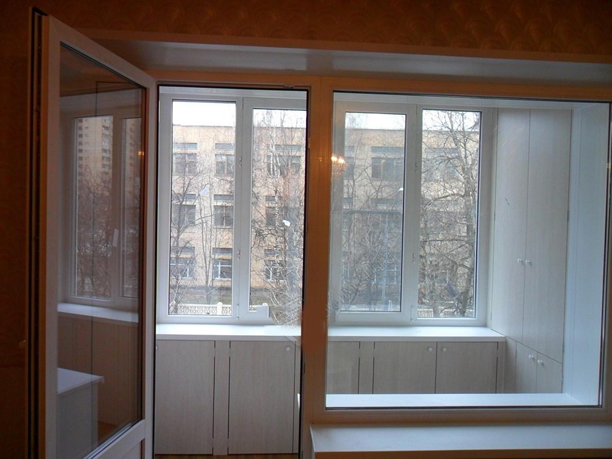 Остекление лоджий с встроенными шкафами фото.