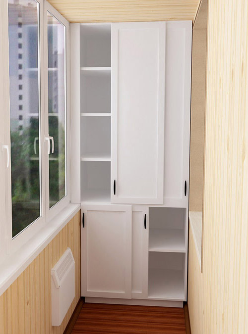Шкаф на балкон и лоджию - меболюкс - мебель на балкон.