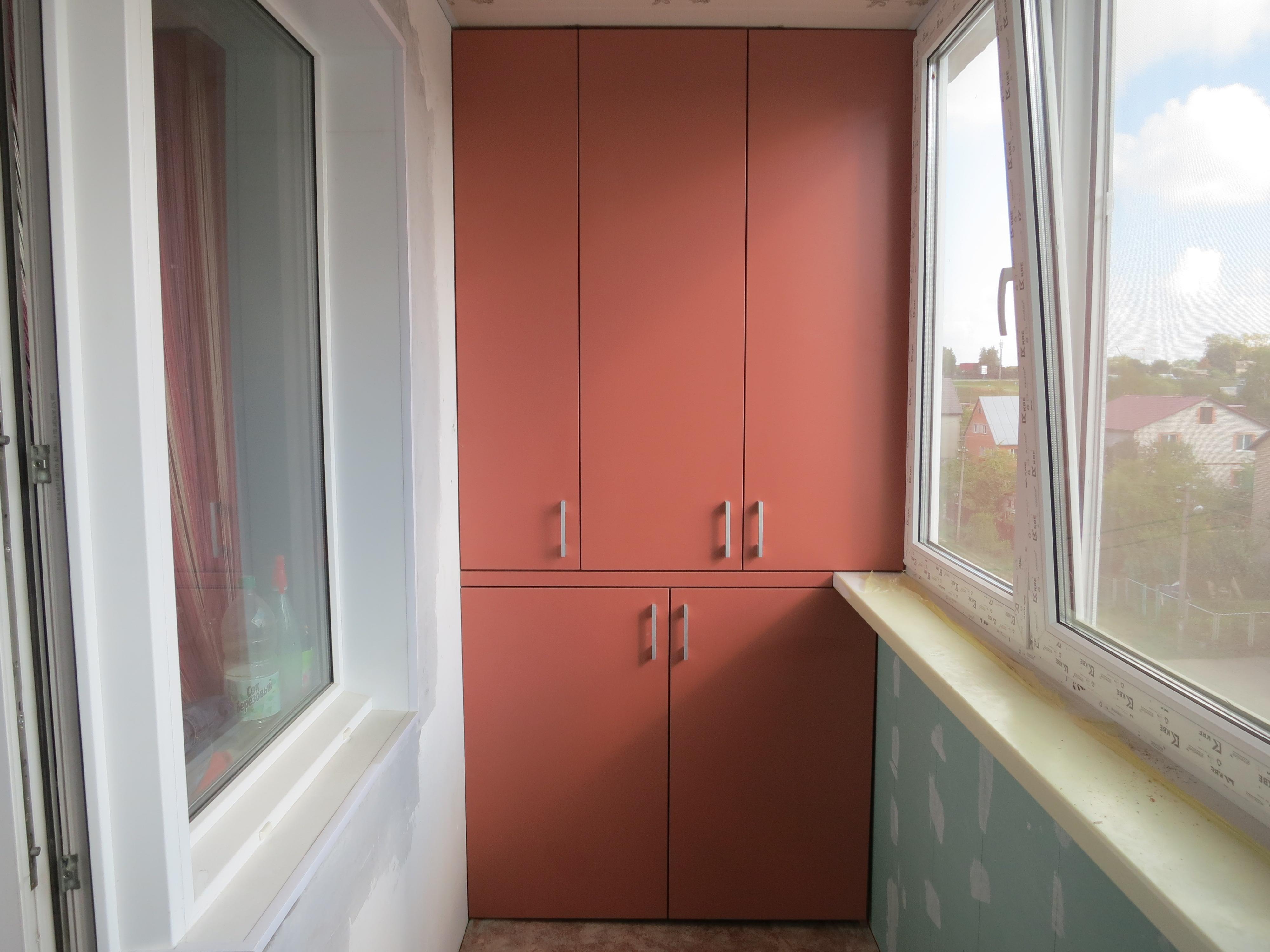 Встроенный шкаф своими руками на лоджии 709