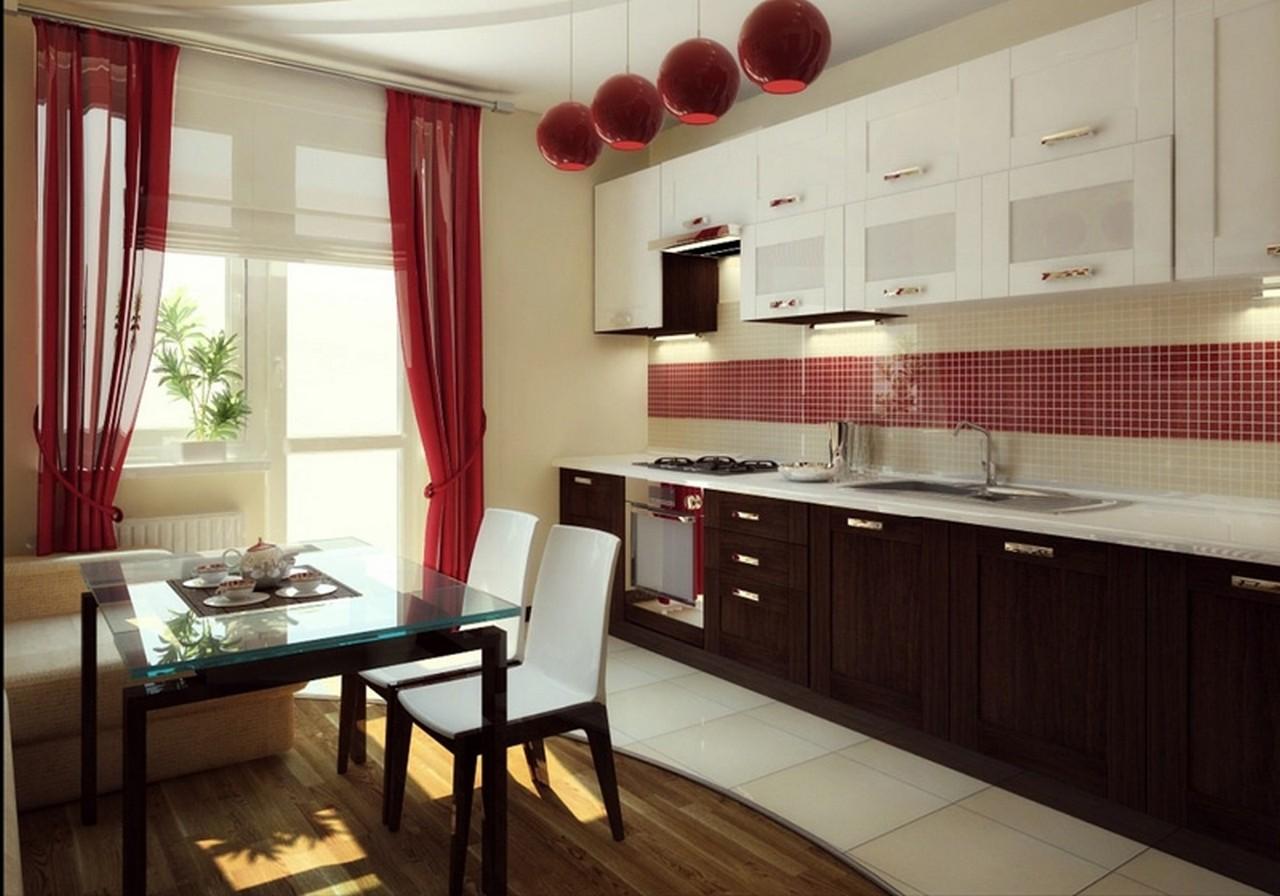 Современный дизайн шторы для кухни 2017