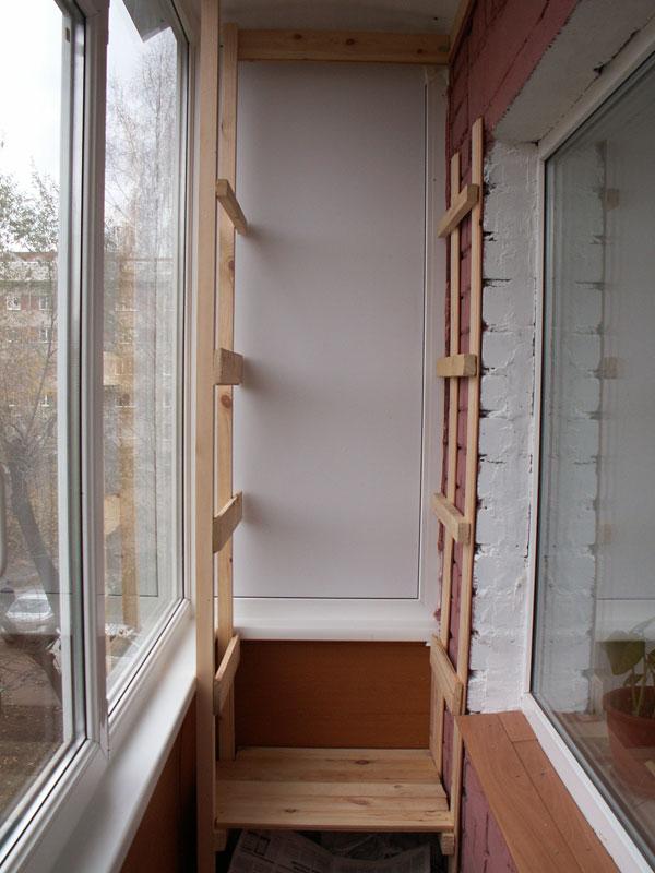 Полка на балкон своими руками. фото схемы.