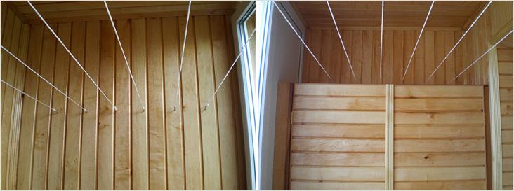 Сушилка для белья на балкон (39 фото): подвесная и потолочна.