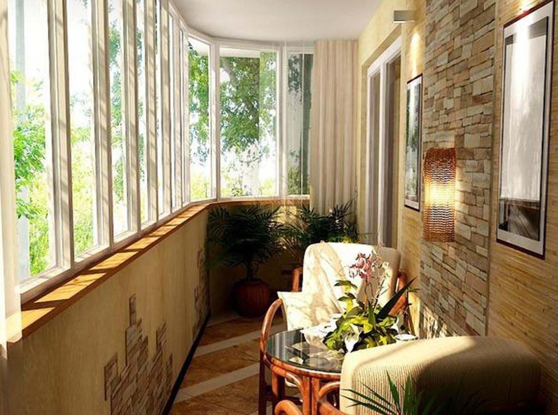 Современный интерьер балкона.