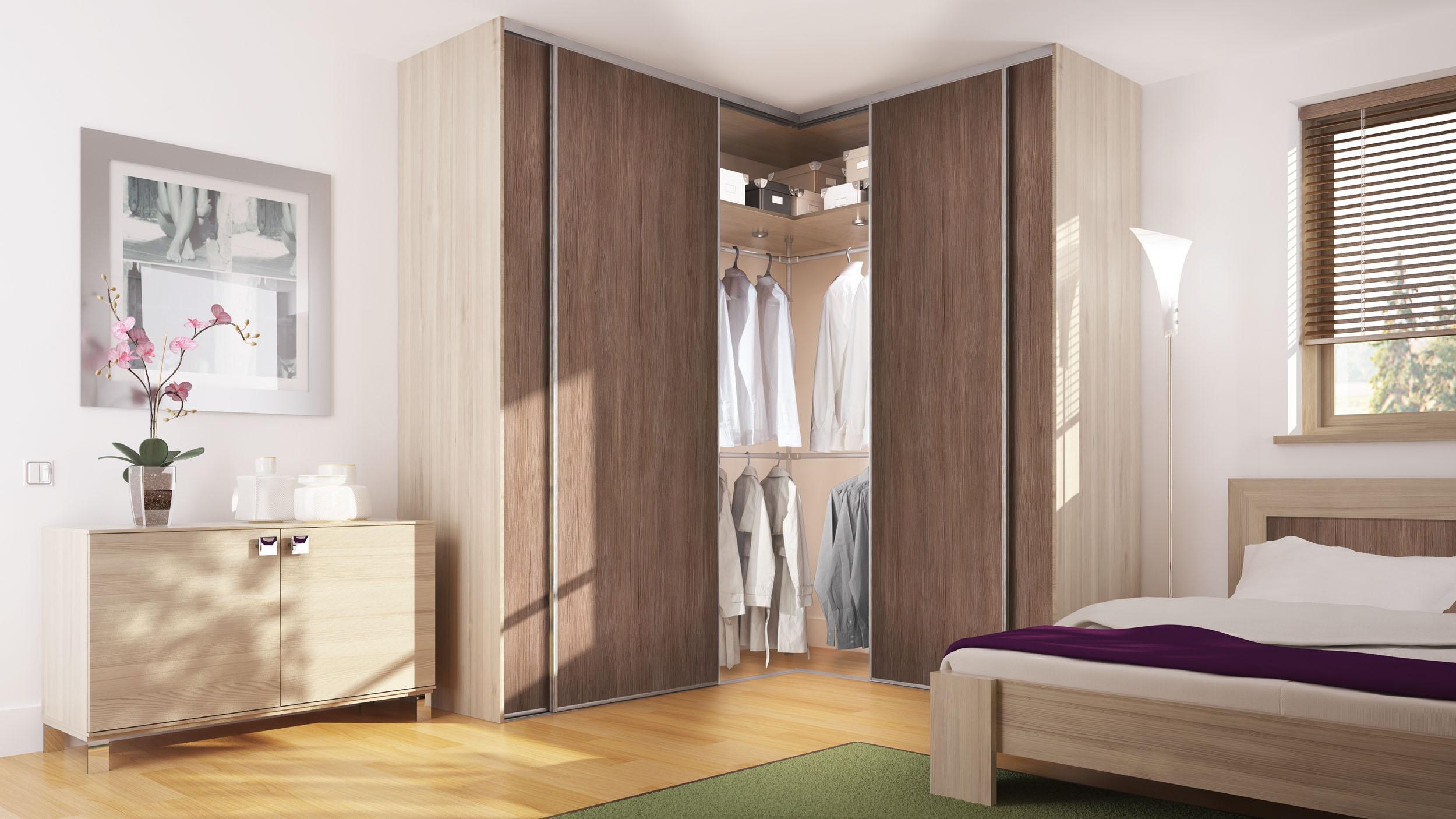 Дизайн встроенных угловых шкафов