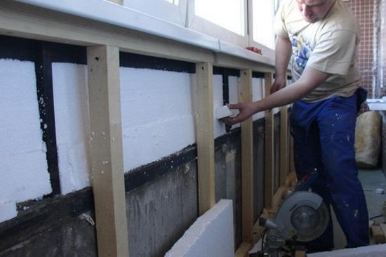 Утепление парапета балкона - как утеплить лоджию.