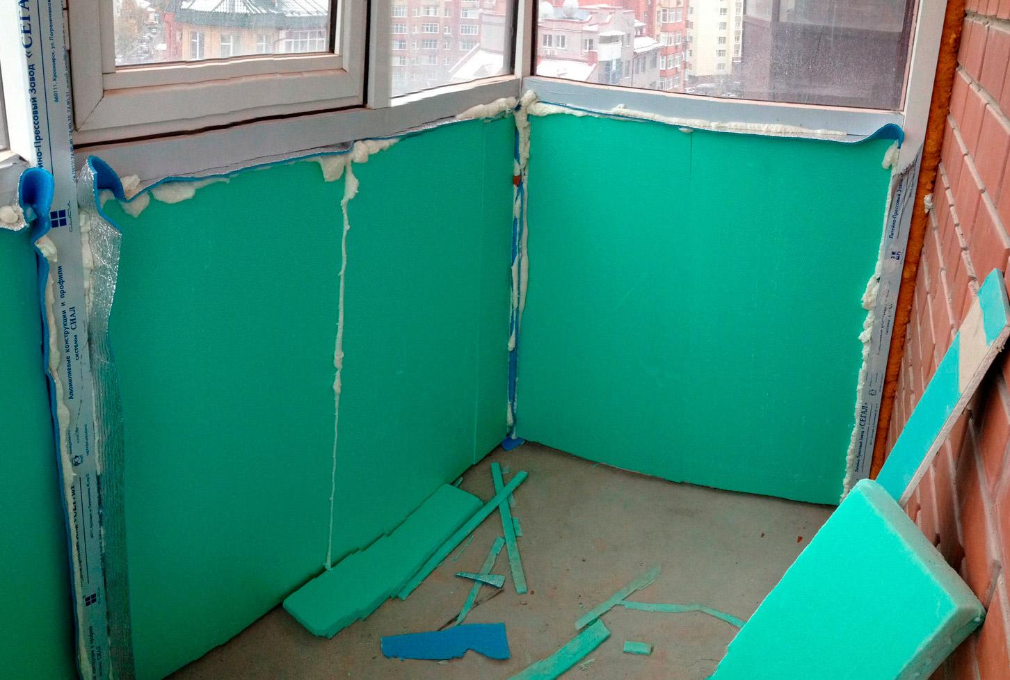 Утепление пенопластом своими руками балкон