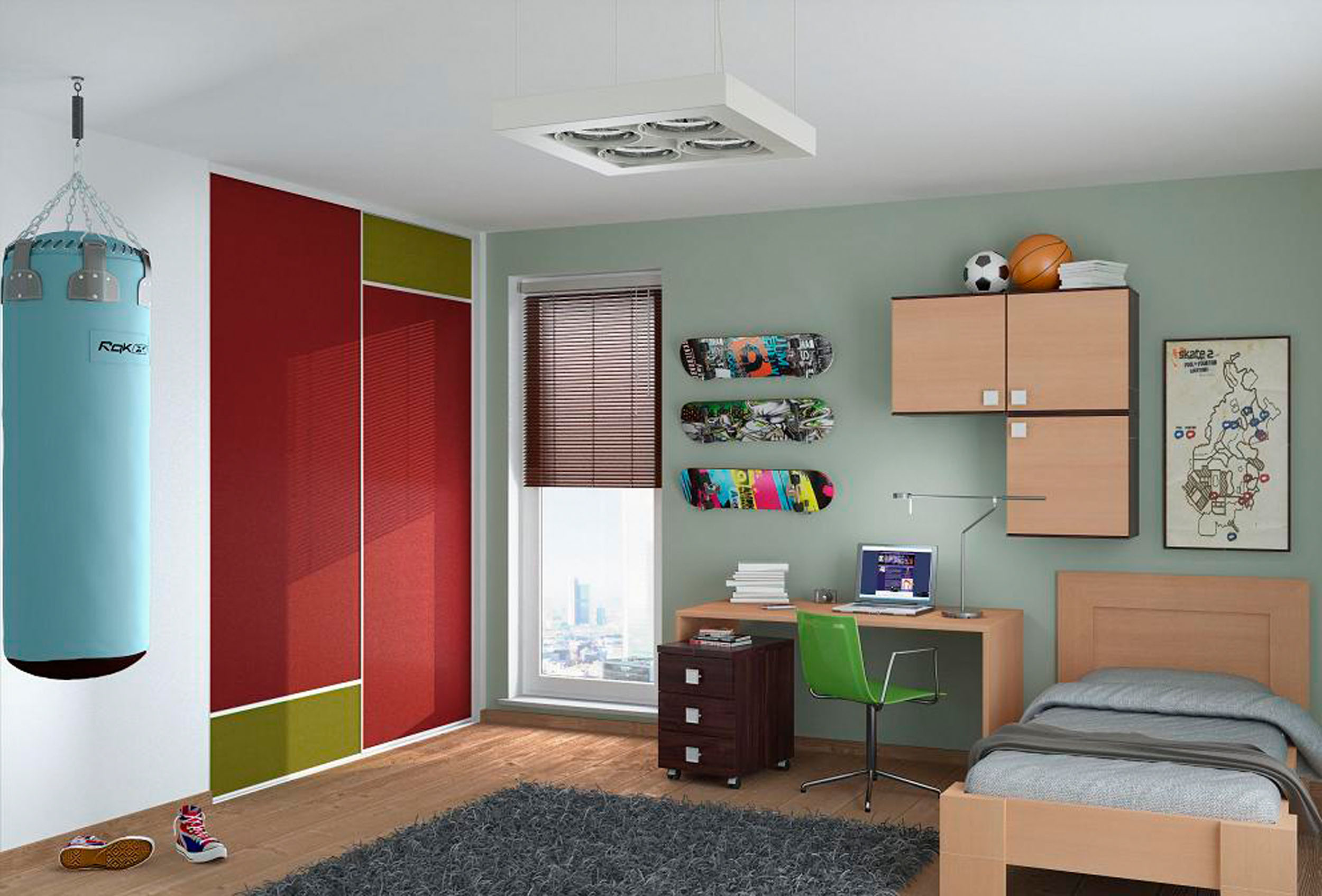 Шкаф для двоих детей фото