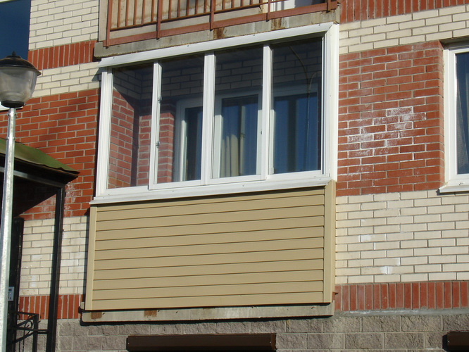 Наружная обшивка балконов.