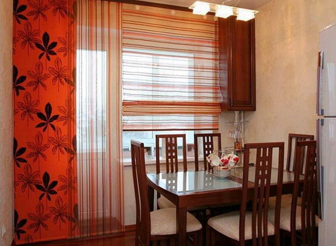 Дизайн балконного окна на кухне