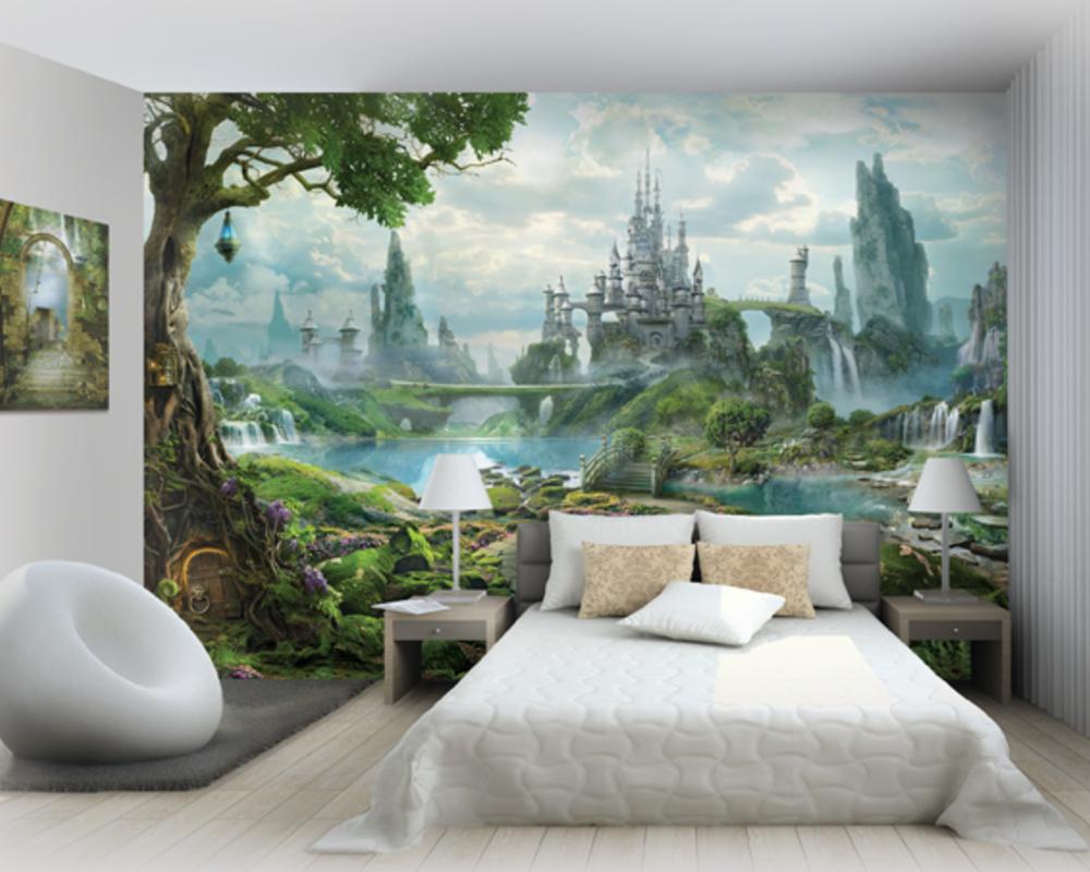фотообои на стену в спальню фото 3д цены