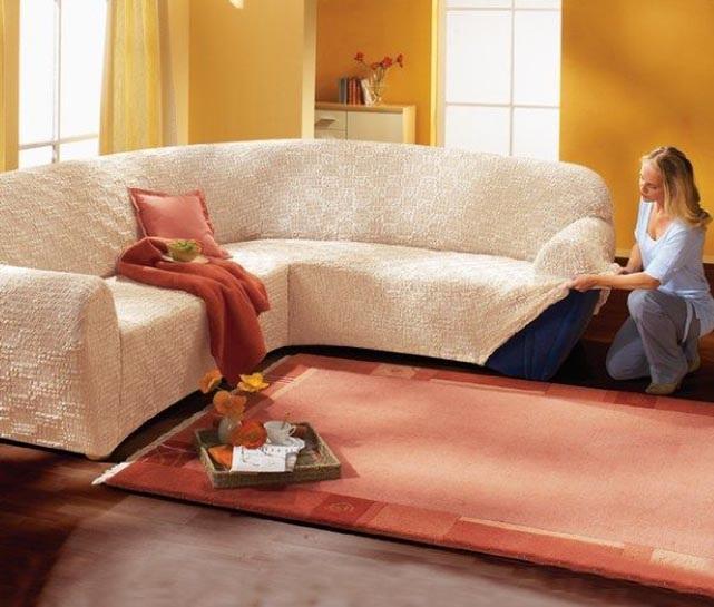 Как быстро сшить чехол на угловой диван 37