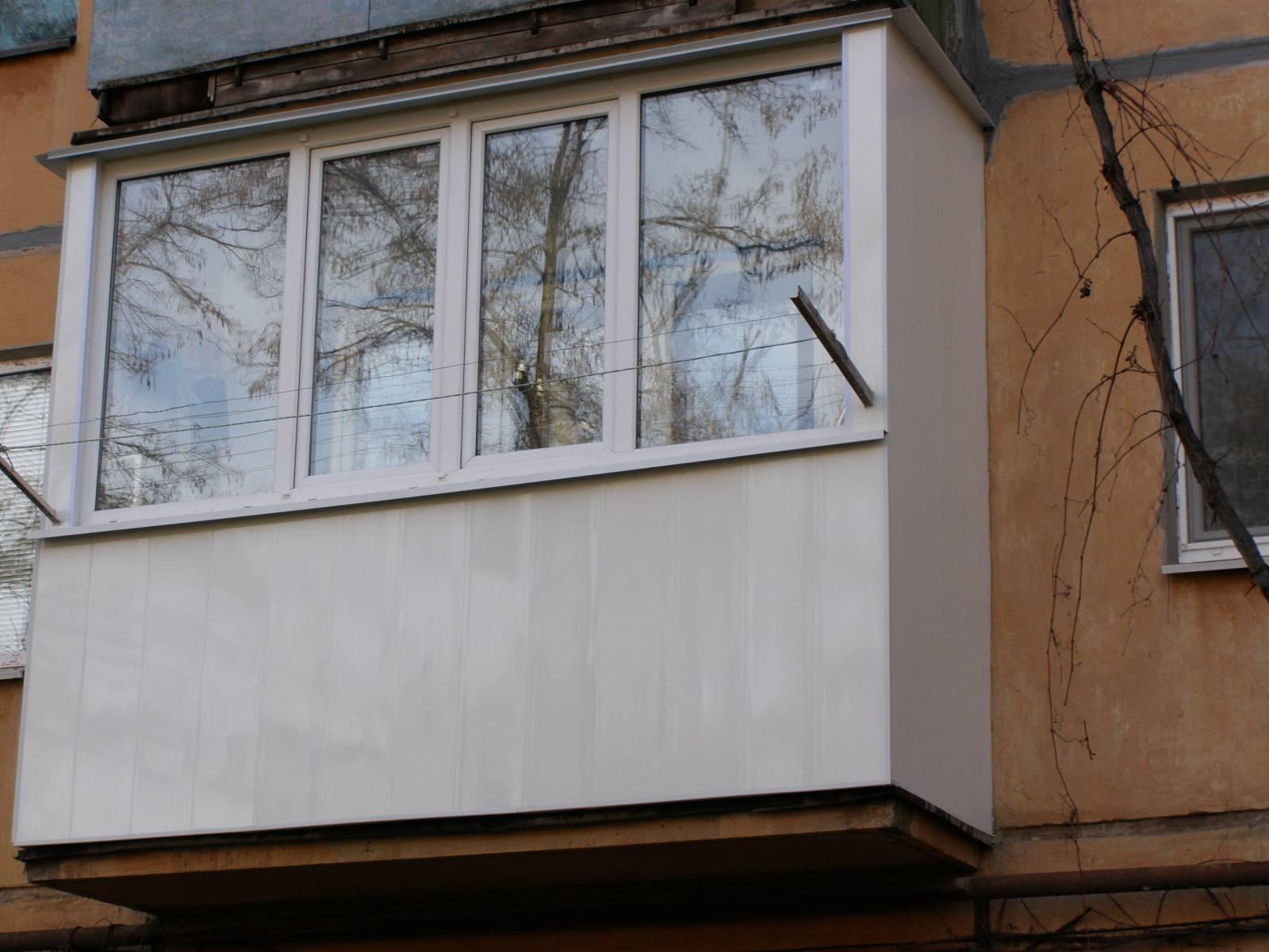 Как обшить балкон пластиком снаружи.