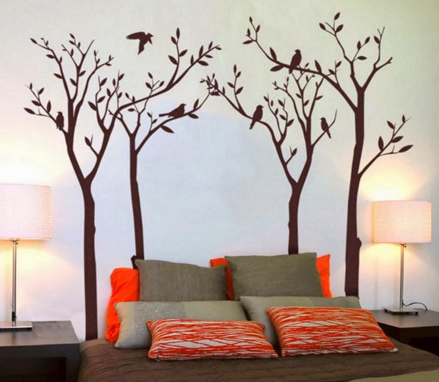 Рисуем на стенах в спальне своими руками 53