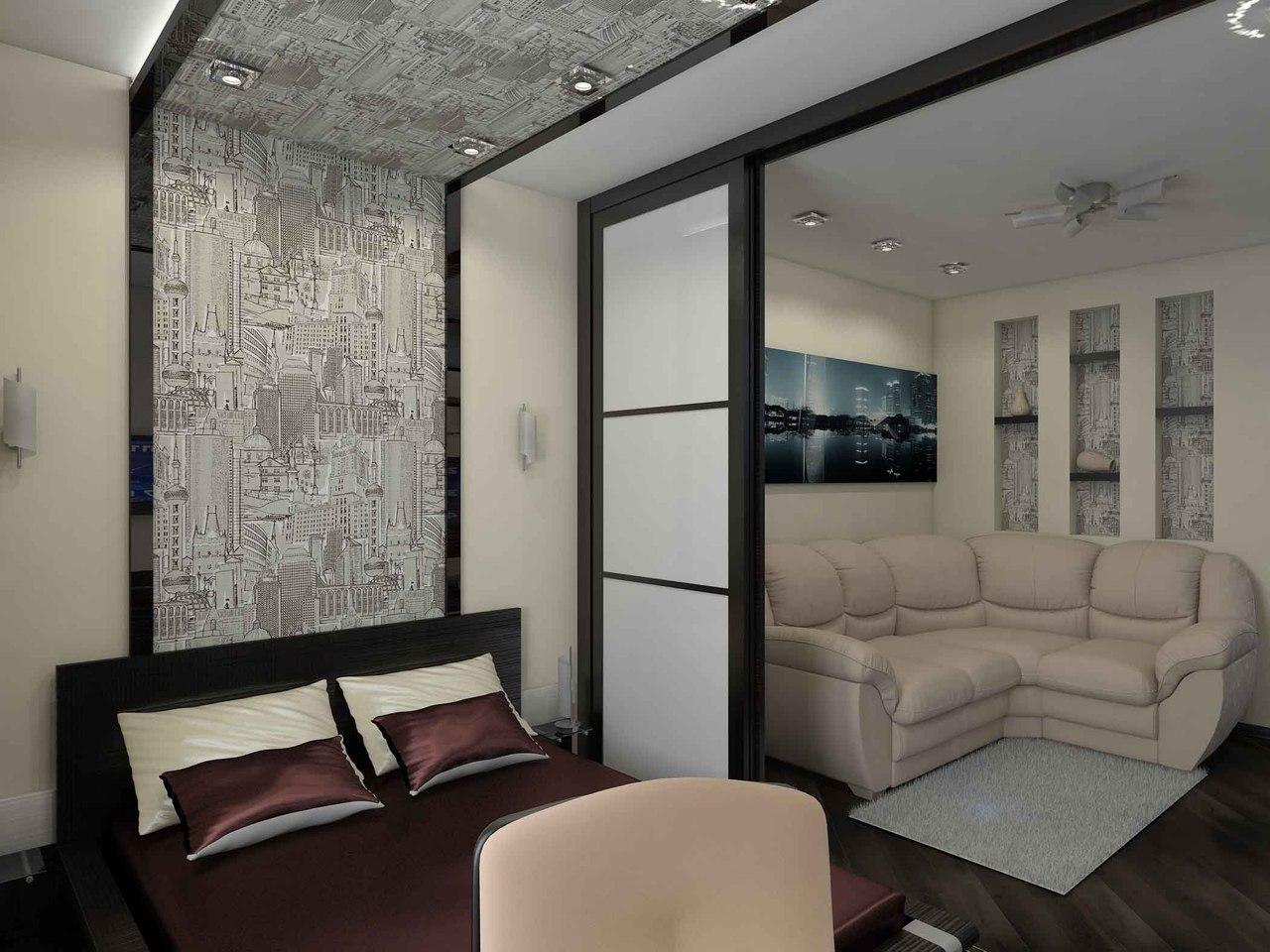 Дизайн гостиной 14 кв. м