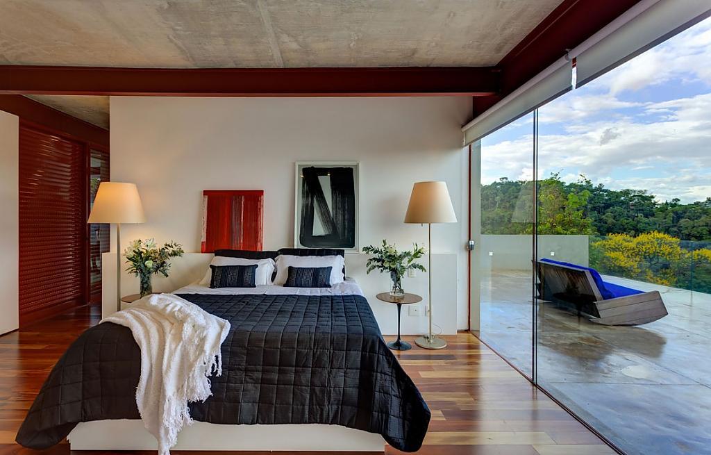 Красивые спальни дизайн в доме частном доме
