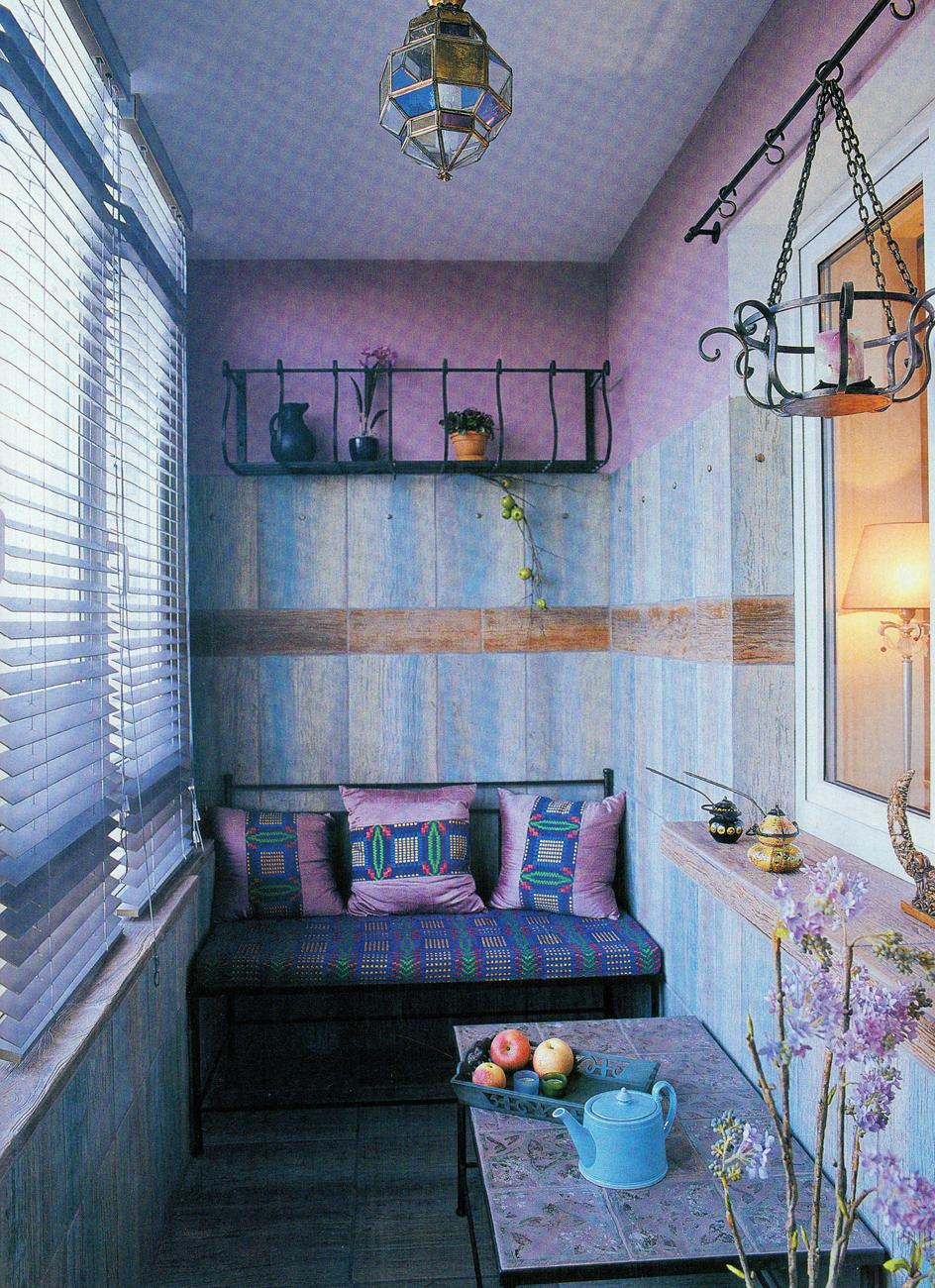 Балкон в стиле кантри. - остекление - каталог статей - ремон.