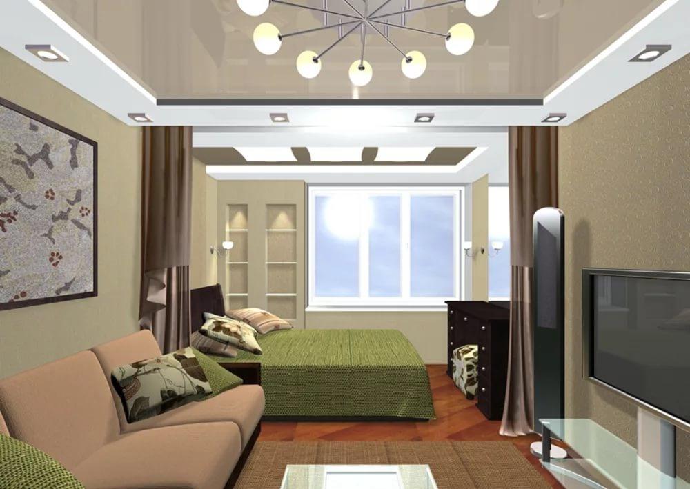 дизайн маленькой гостиной спальни 40 фото интерьер комнаты 12 13