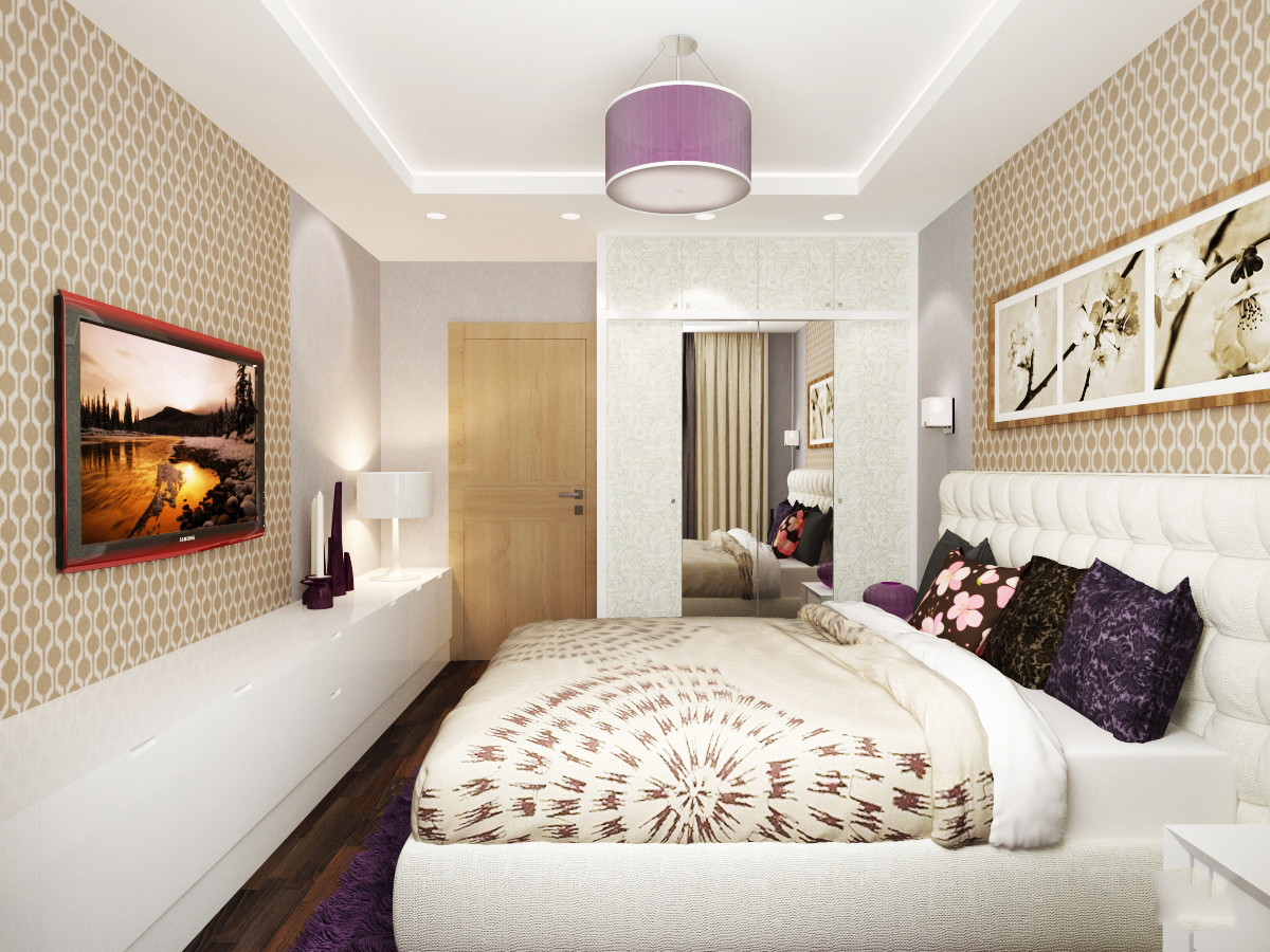 Дизайн спальни 14 кв м в квартире