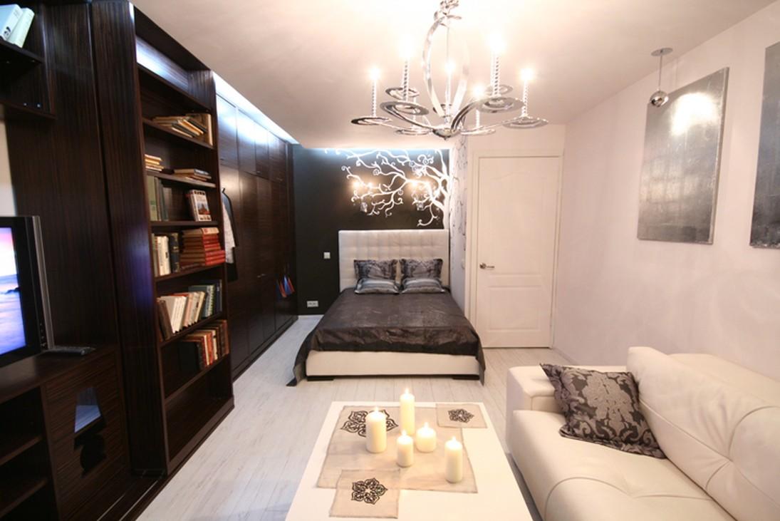 Спальня гостиная в хрущевке фото.