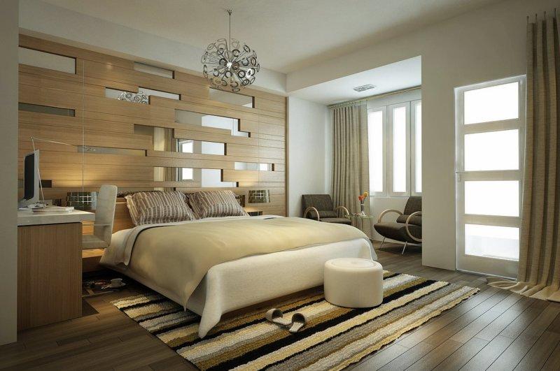 Дизайн спальни 19 кв. м