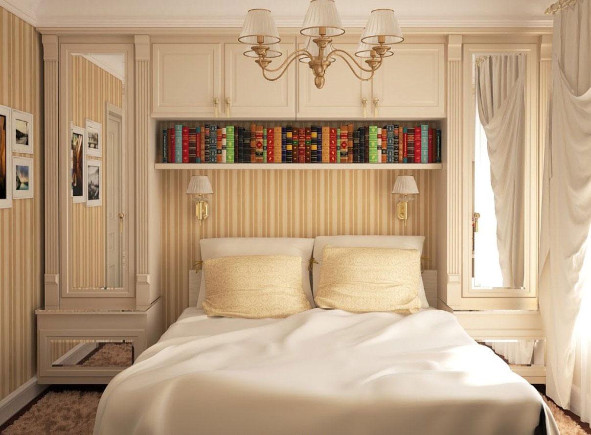 Интерьер дизайн маленькой спальни фото